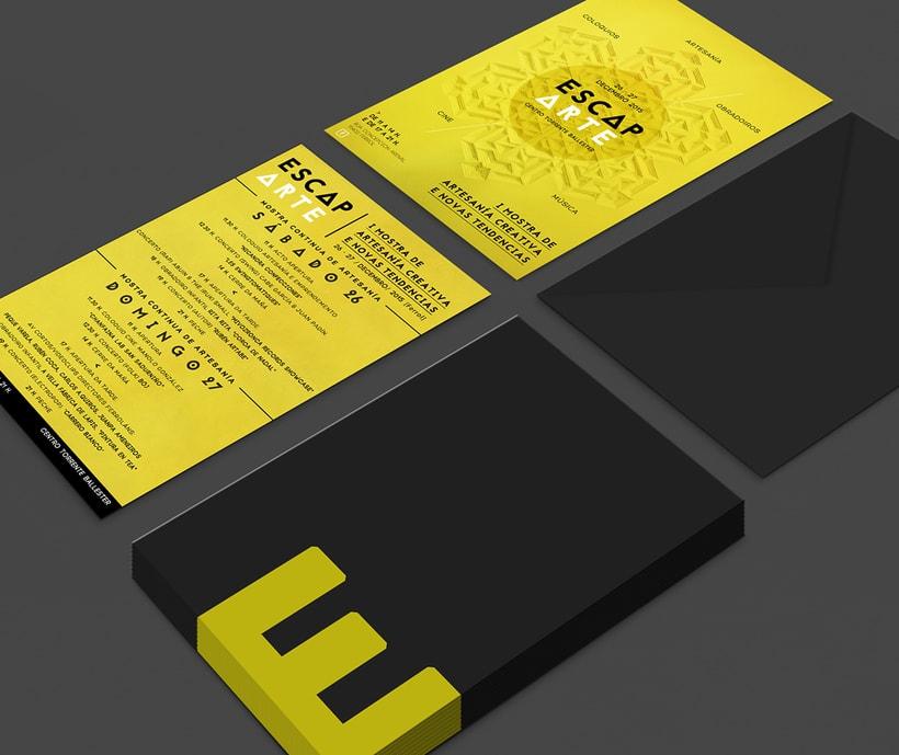 """Cartel y flyer para Escaparte """"I mostra de artesanía creativa e novas tendencias""""  0"""