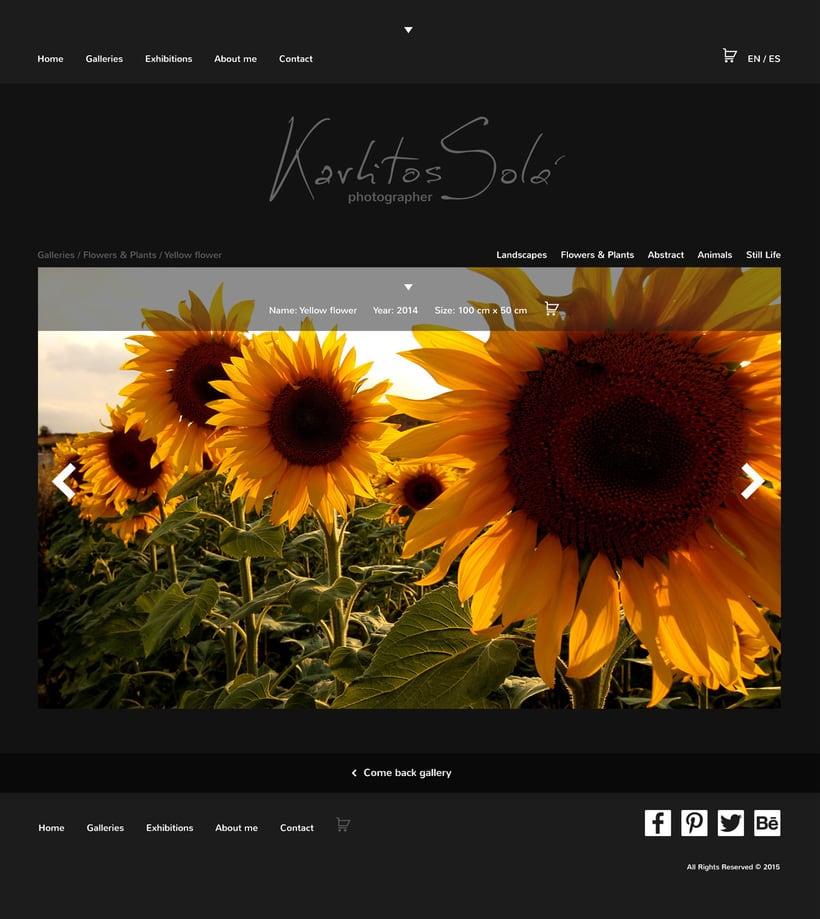 Mi Proyecto del curso: Portfolio fotógrafo Karlitos Solá 7