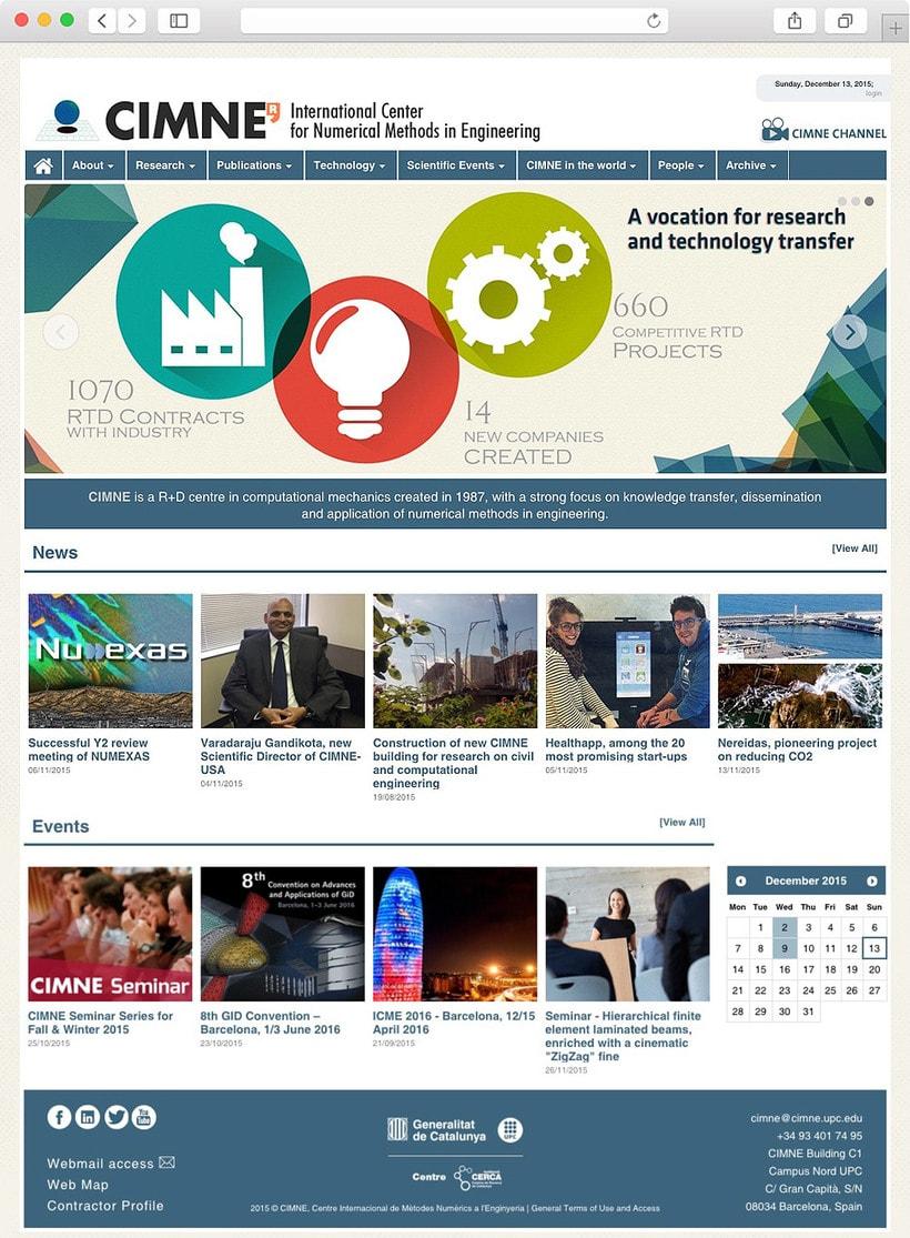 Anuario, catálogo, web y newsletter - CIMNE 15