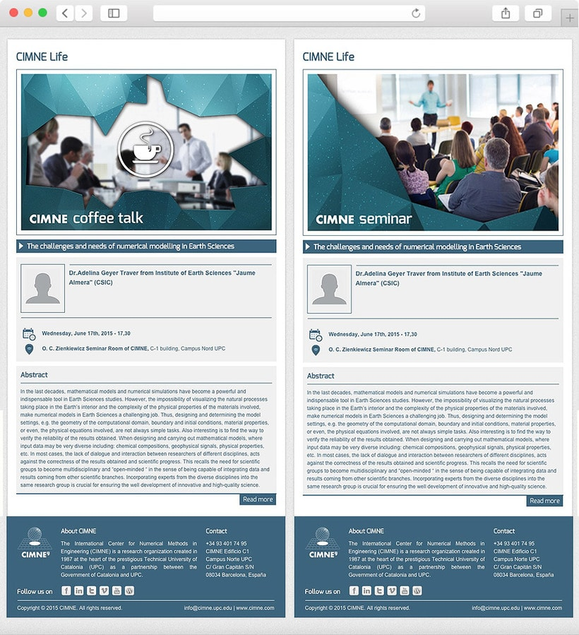Anuario, catálogo, web y newsletter - CIMNE 14
