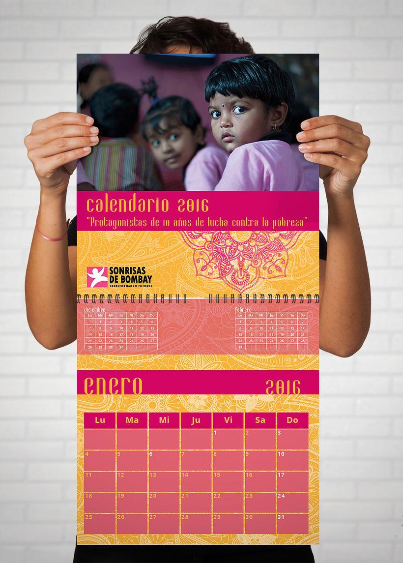 Calendario 2015, 2016 y las Tarjetas Navideñas - SONRISAS DE BOMBAY 1