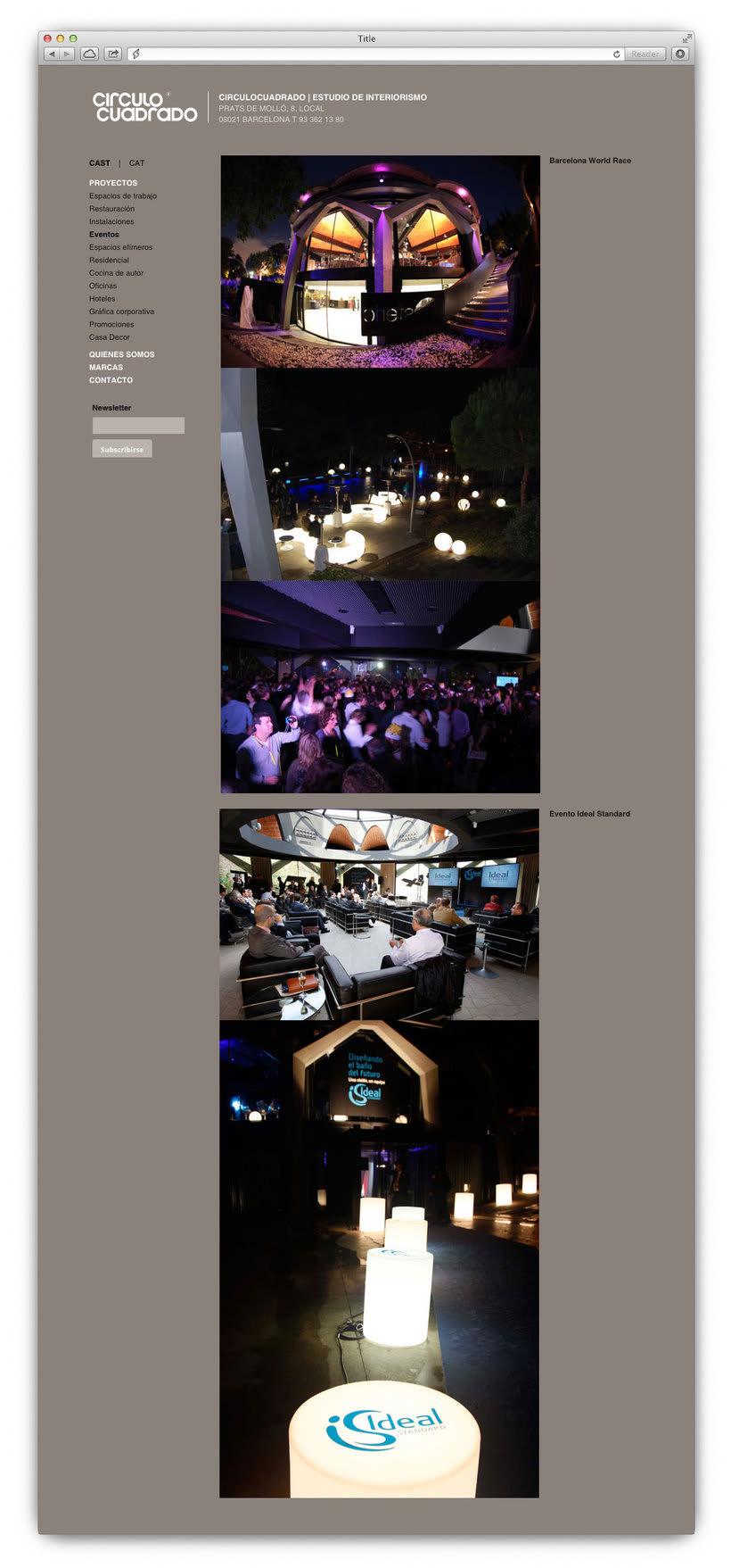 Anuncios en prensa, flyers, actualización web, SEO y marketing digital - CIRCULOCUADRADO 3