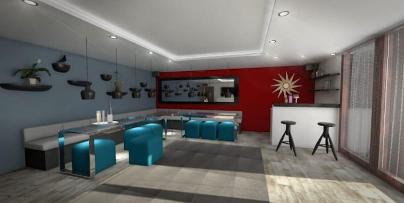 Ballroom, 3D max V-Ray Photoshop -1