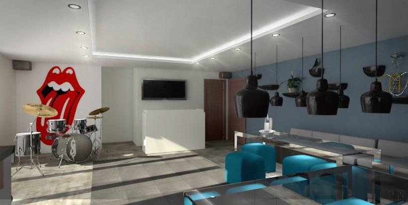 Ballroom, 3D max V-Ray Photoshop 0