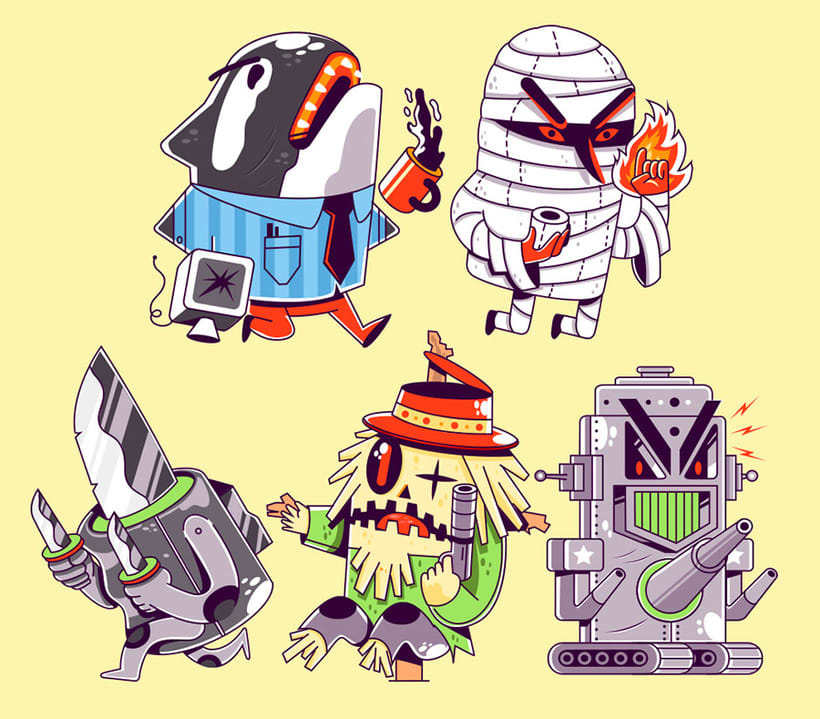 Diseño de personajes de la mano de New Fren 5