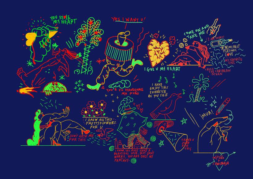 Mi Proyecto del curso: Ilustración original de tu puño, CABIZBAJA y la tableta -1