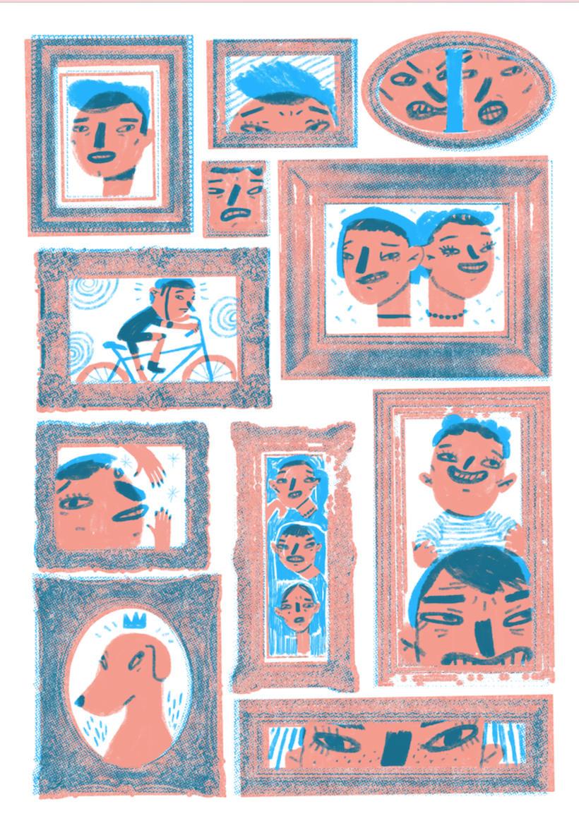 Mi Proyecto del curso: Ilustración original de tu puño, CABIZBAJA y la tableta 1