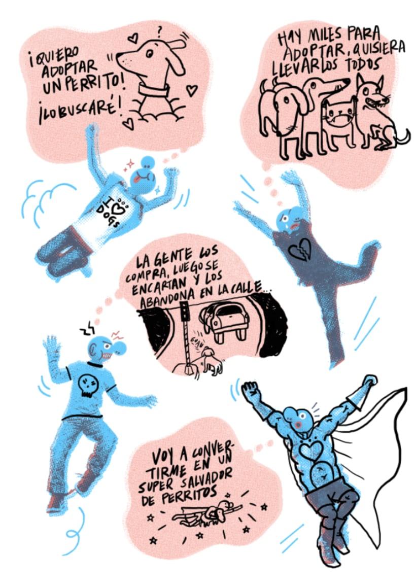 Mi Proyecto del curso: Ilustración original de tu puño, CABIZBAJA y la tableta 4