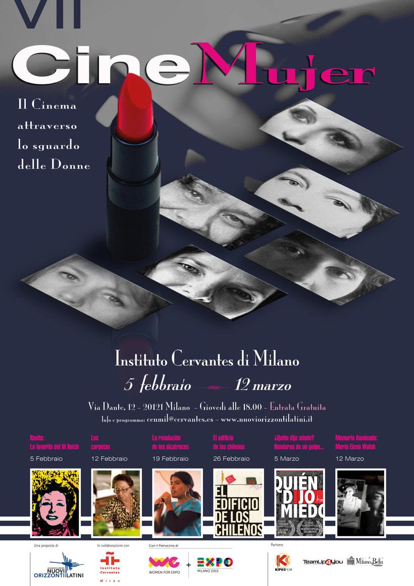 VII CineMujer,  Marzo 2015, Instituto Cervates, Milano ITALIA -1
