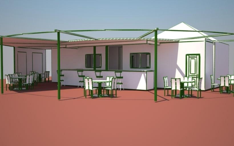 Kiosco bar de armilla domestika for Kiosco bar prefabricado