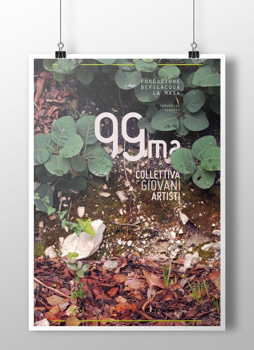 Carteles presentados al concurso para la 99ma Collettiva Giovani Artisti editado por Fondazione Bevilacqua La Masa (Venezia) 1