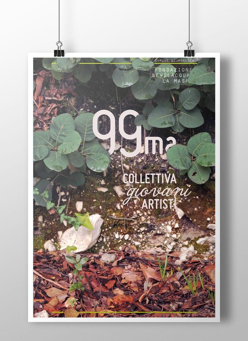 Carteles presentados al concurso para la 99ma Collettiva Giovani Artisti editado por Fondazione Bevilacqua La Masa (Venezia) 0