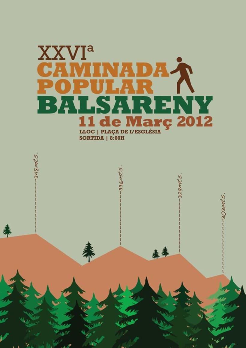 Cartel CAMINADA POPULAR BALSARENY -1