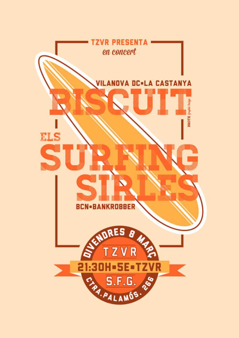 Cartel BISCUIT + ELS SURFING SIRLES 0