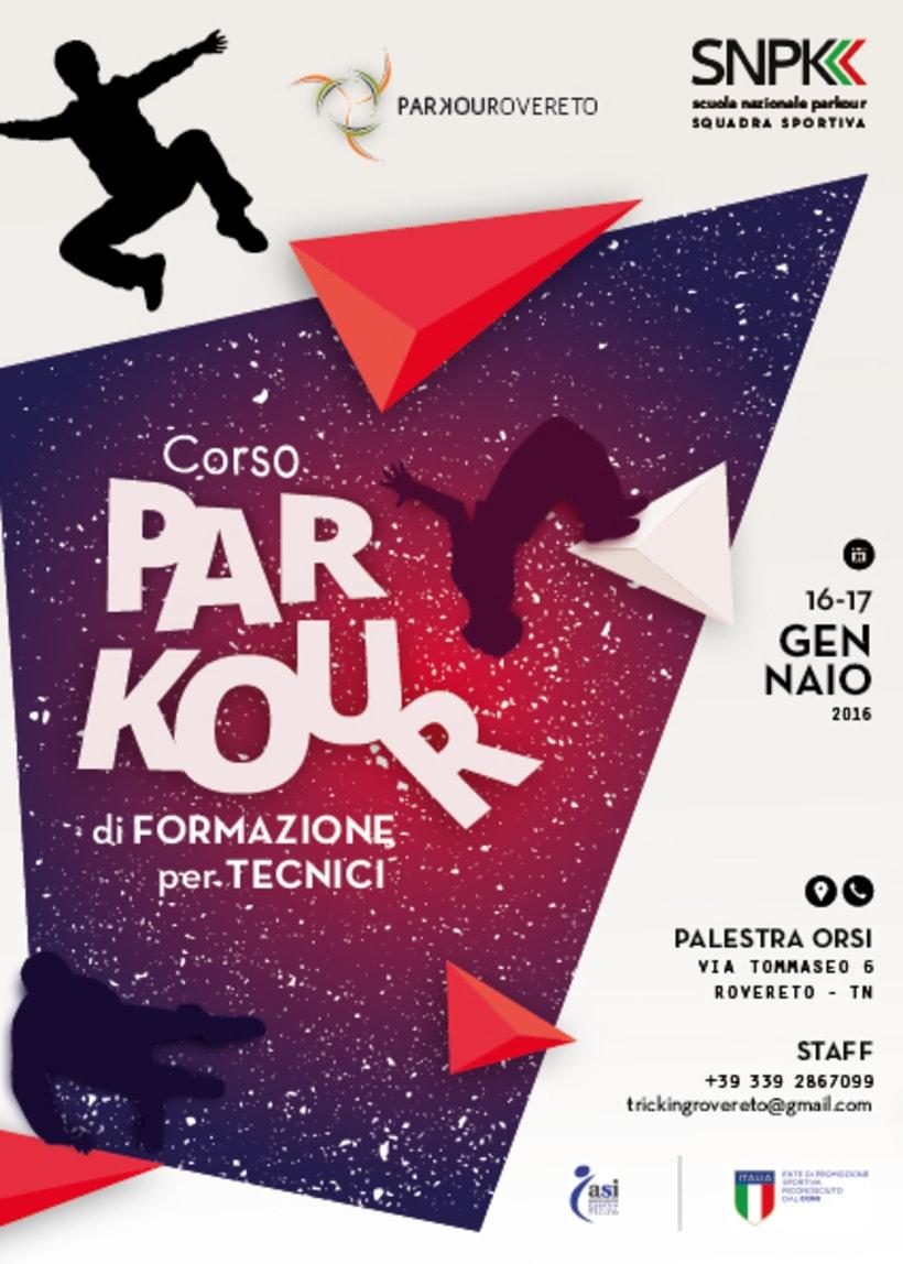 Diseño de un flyer para clases de Parkour 0