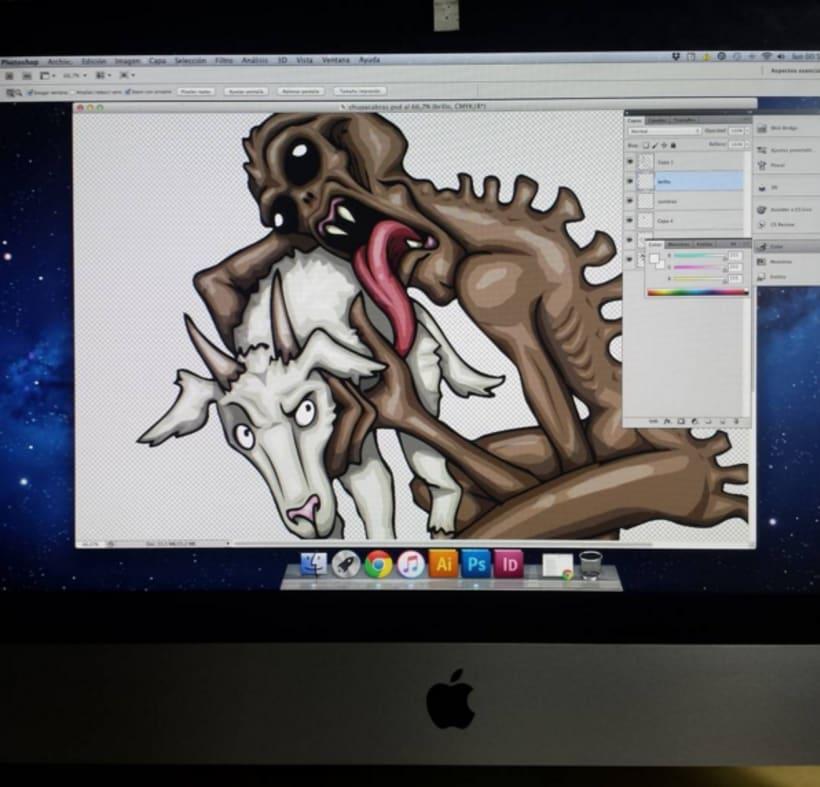 Ilustraciones y su color digital (Photoshop) -1