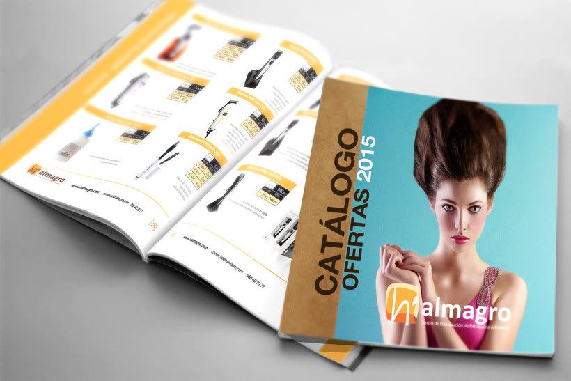 Diseño de catálogo Anual de productos de peluquería -1