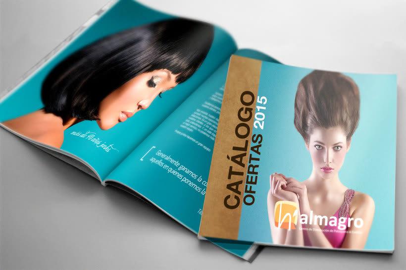 Diseño de catálogo Anual de productos de peluquería 0