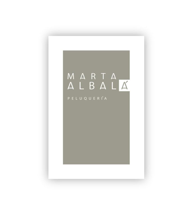 Marca Peluquería Marta Albalá -1