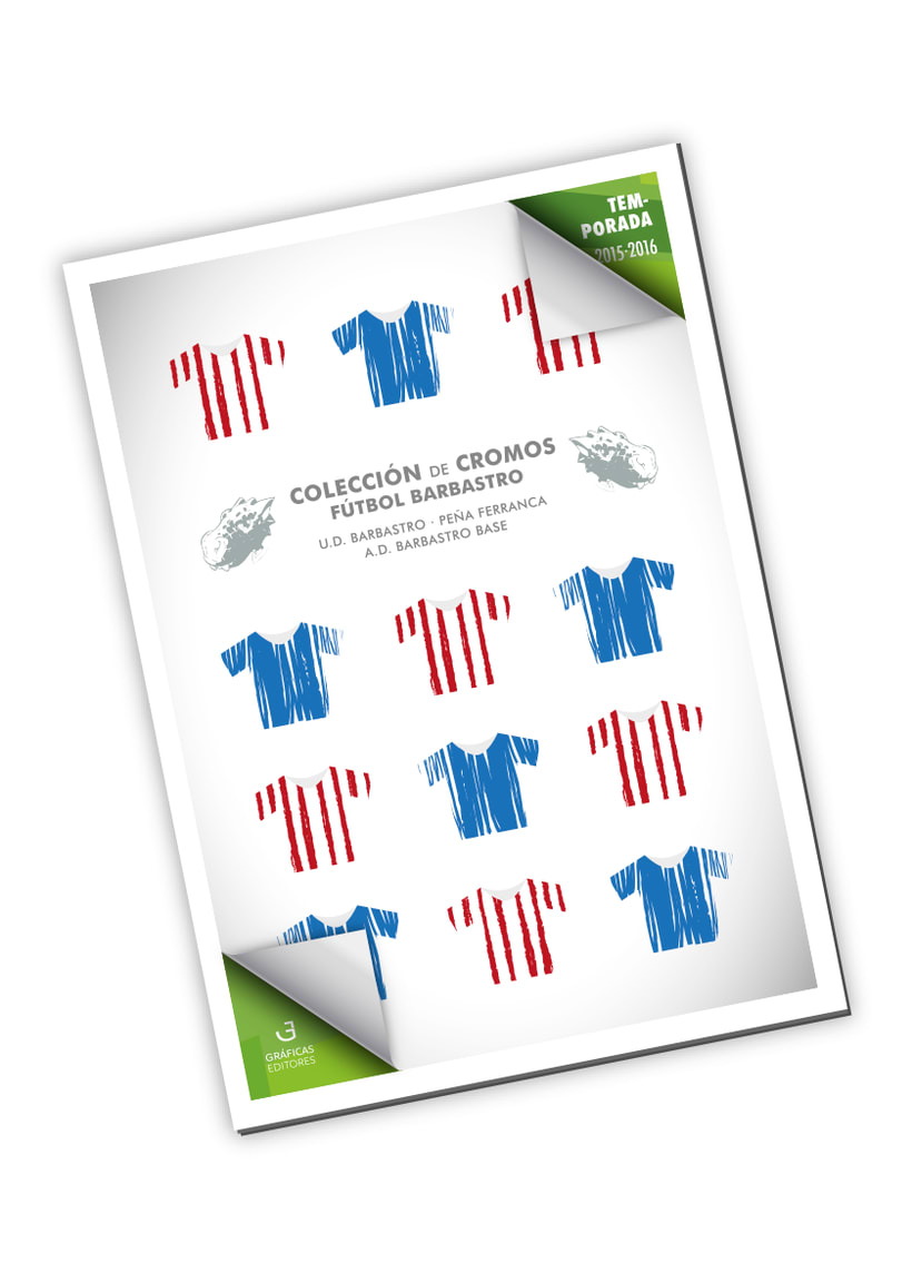 Álbum de cromos - Fútbol Barbastro 2015-2016 -1