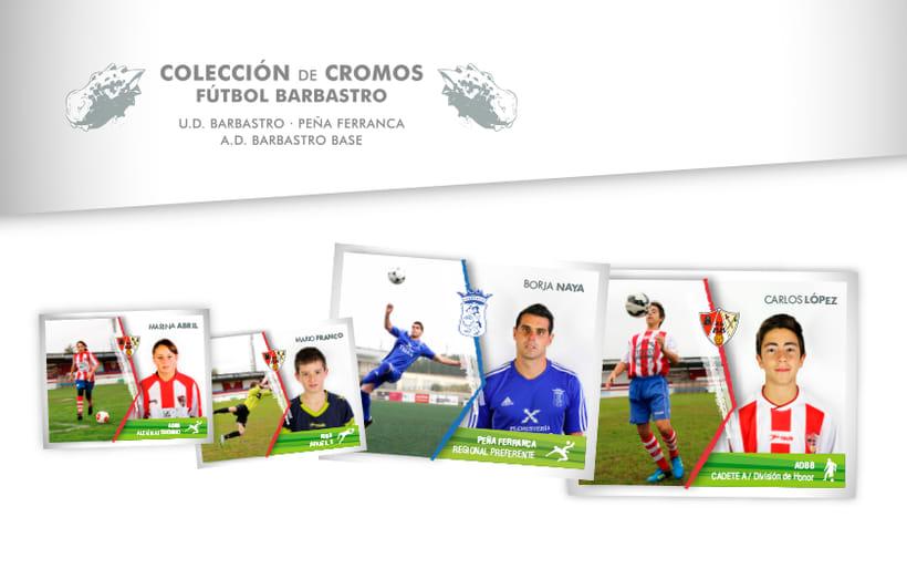 Álbum de cromos - Fútbol Barbastro 2015-2016 0