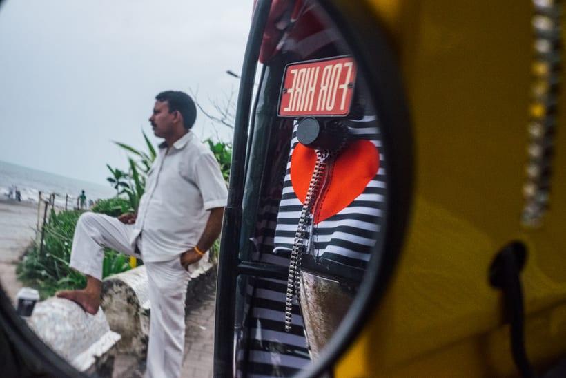 Transportan el diseño a través de taxis en Mumbai  1