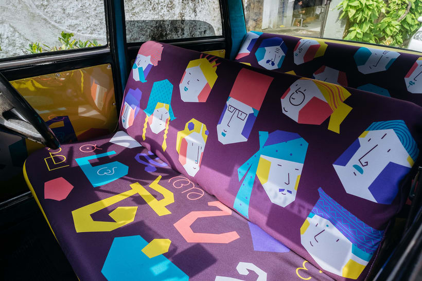 Transportan el diseño a través de taxis en Mumbai  9