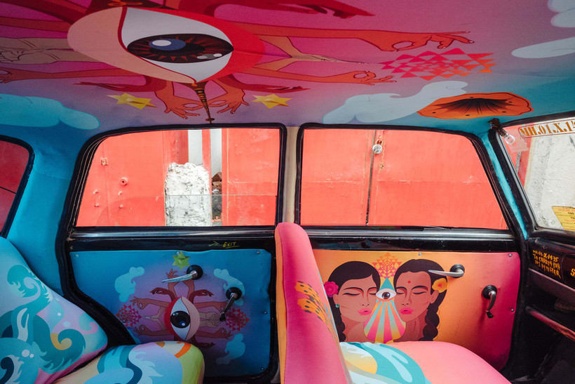 Transportan el diseño a través de taxis en Mumbai  10