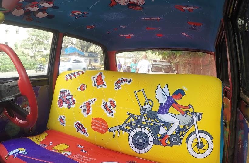 Transportan el diseño a través de taxis en Mumbai  14