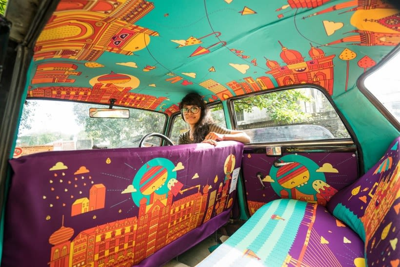 Transportan el diseño a través de taxis en Mumbai  15