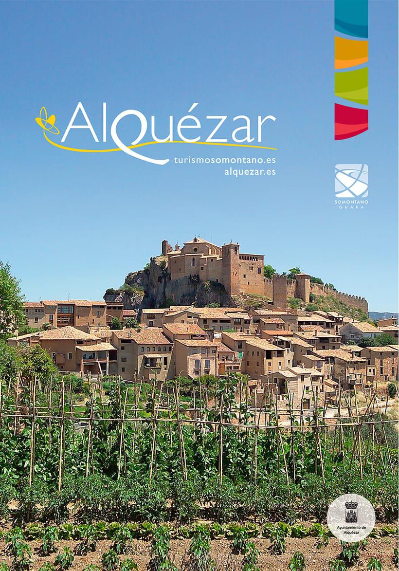 Mapa turístico de Alquézar / Huesca -1
