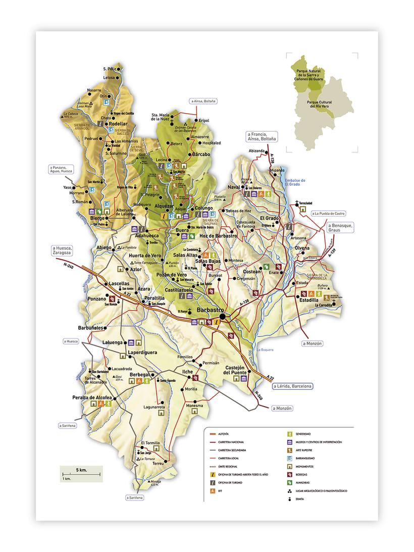 Mapa turístico de Alquézar / Huesca 1