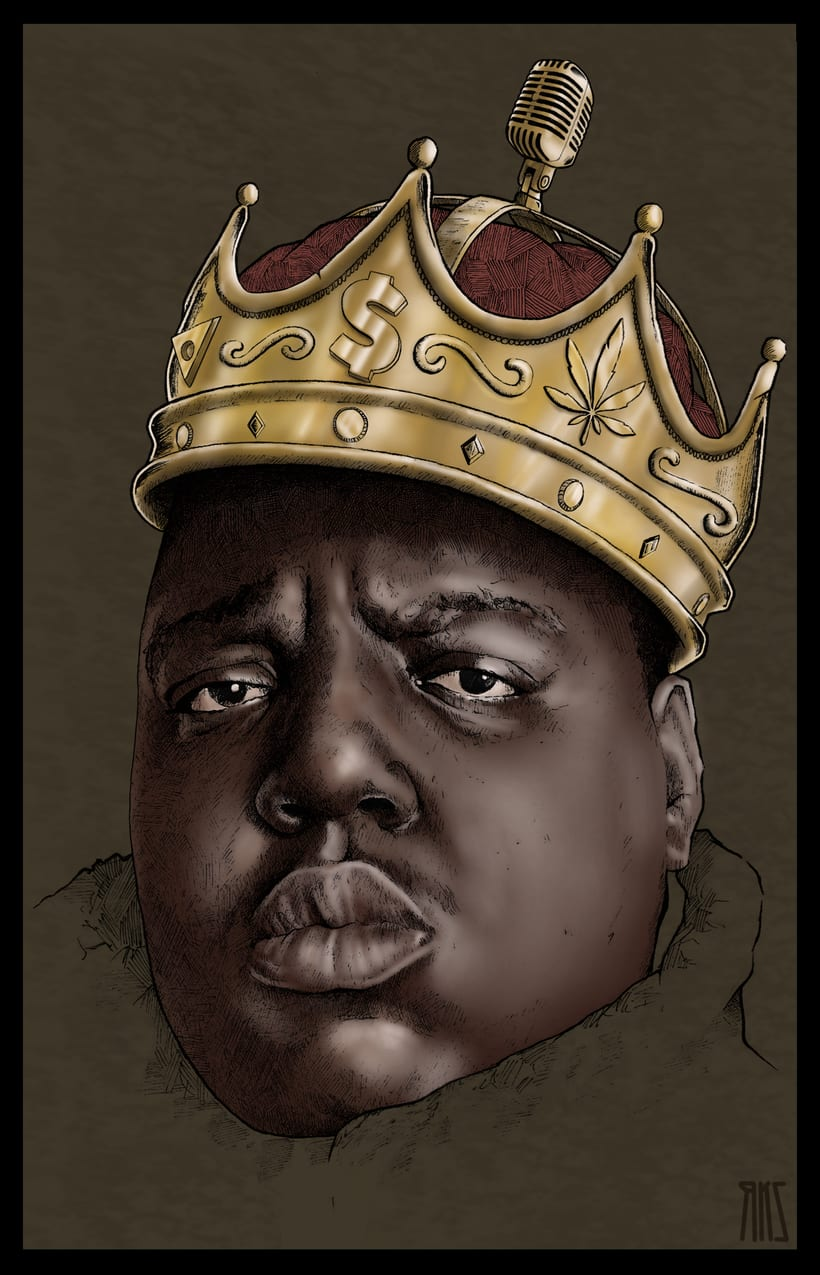 Notorious Big. Tinta negra y photoshop. -1