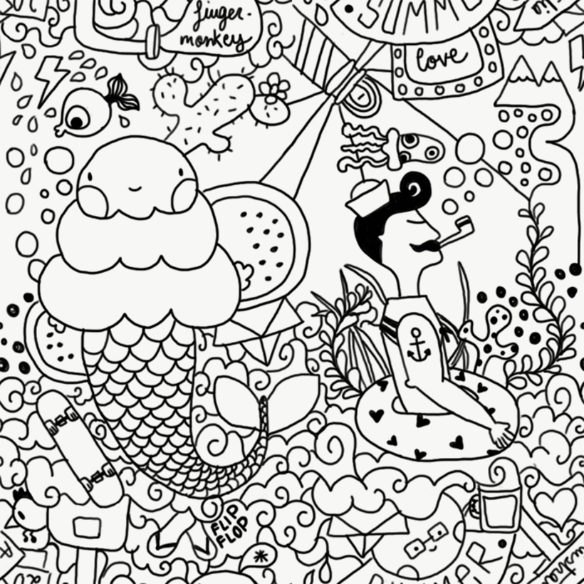 [Summer Poison] Este proyecto me hace especial ilusión, ya que es el primer pattern complejo que hago :) Me he inspirado en motivos veraniegos, ya que viviendo en Manchester es lo que más echo de menos! Deseo que os guste, un saludito :)  1