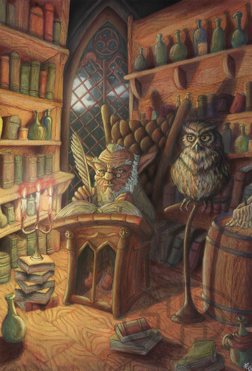 En la biblioteca -1