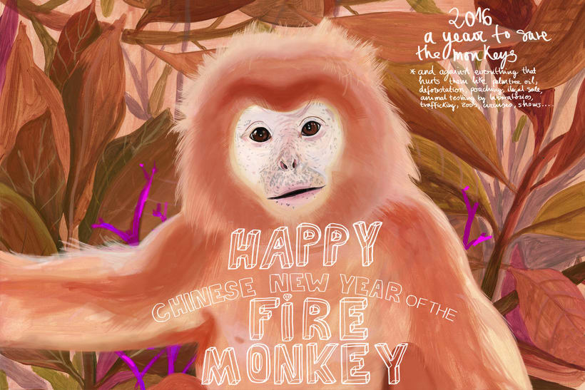 happy chinese new year of the monkey 0