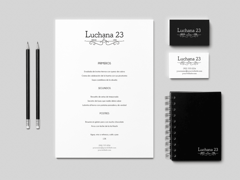 Logo y web Luchana 23, Madrid 1