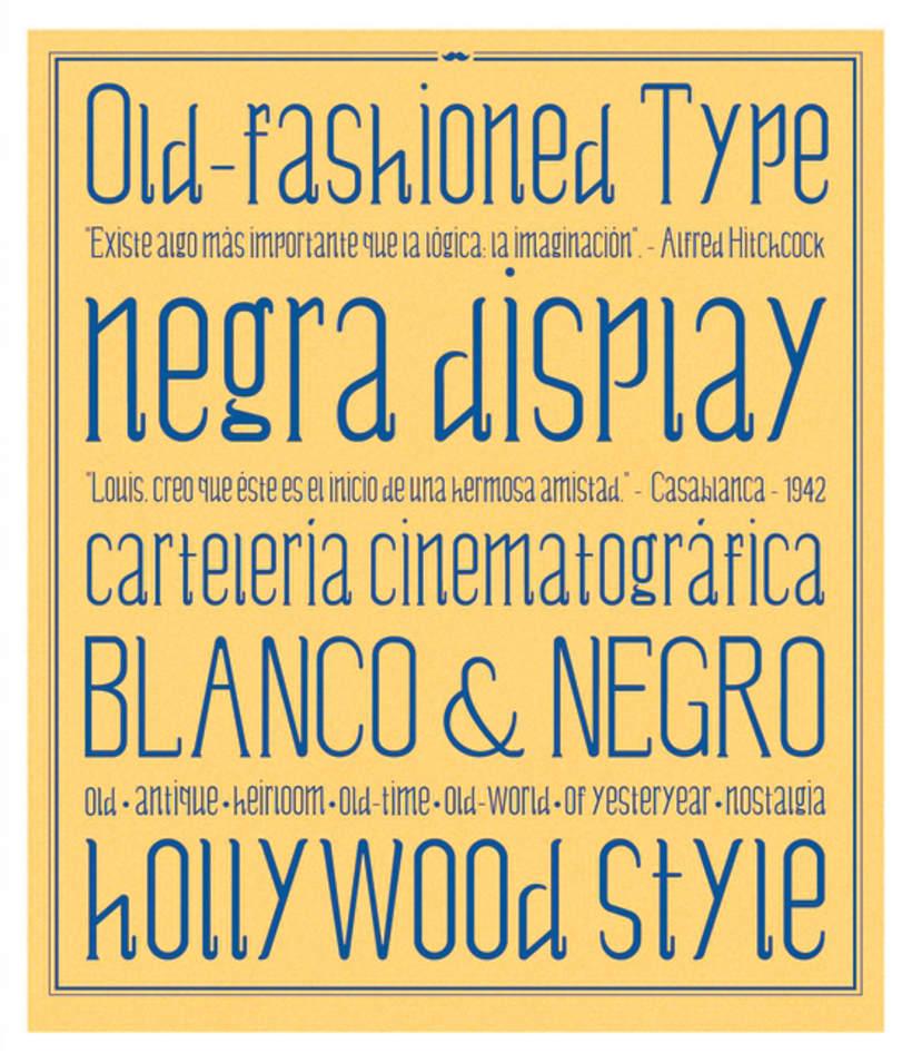 Negra - Display typography 8