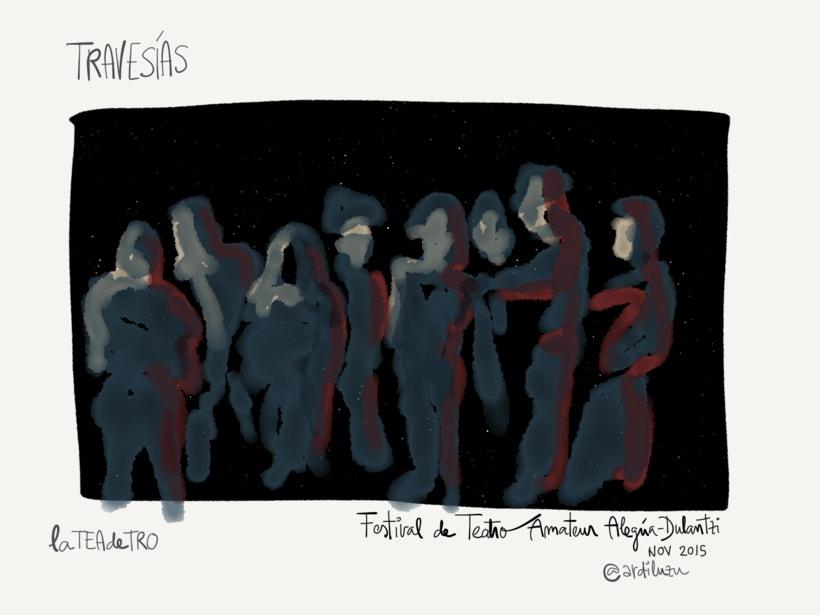 Graphic recording del Festival de Teatro Amateur de Alegría-Dulantzi 0