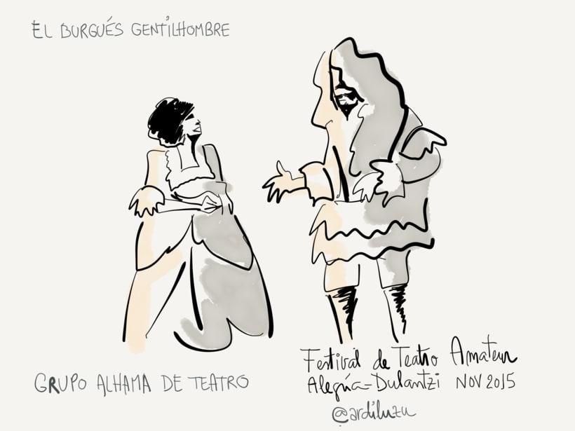 Graphic recording del Festival de Teatro Amateur de Alegría-Dulantzi 1