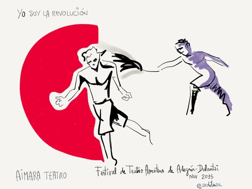 Graphic recording del Festival de Teatro Amateur de Alegría-Dulantzi 3