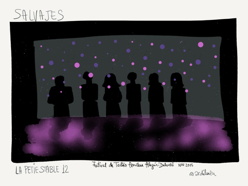 Graphic recording del Festival de Teatro Amateur de Alegría-Dulantzi 6