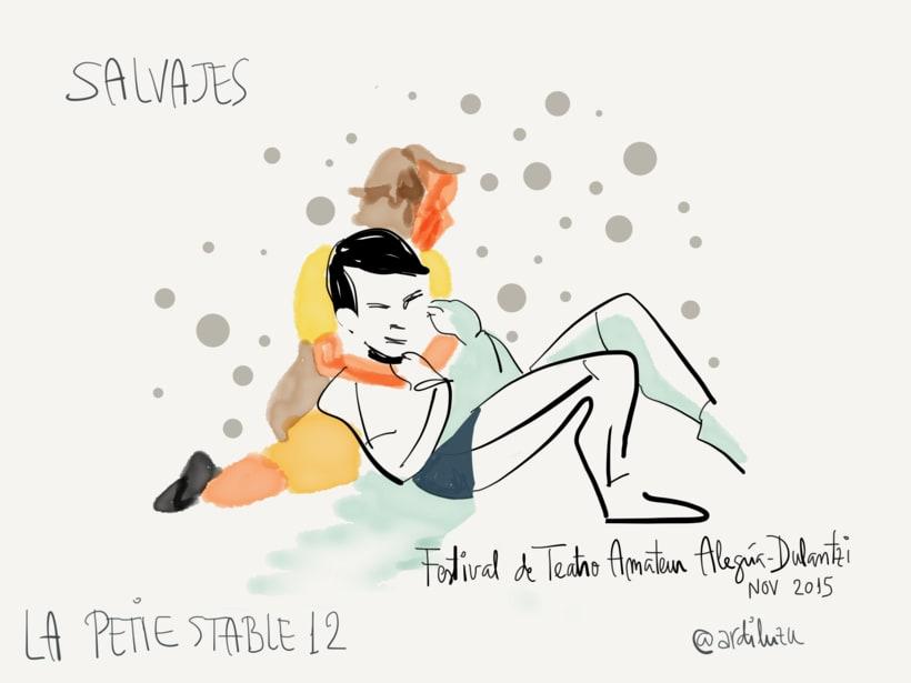 Graphic recording del Festival de Teatro Amateur de Alegría-Dulantzi 7