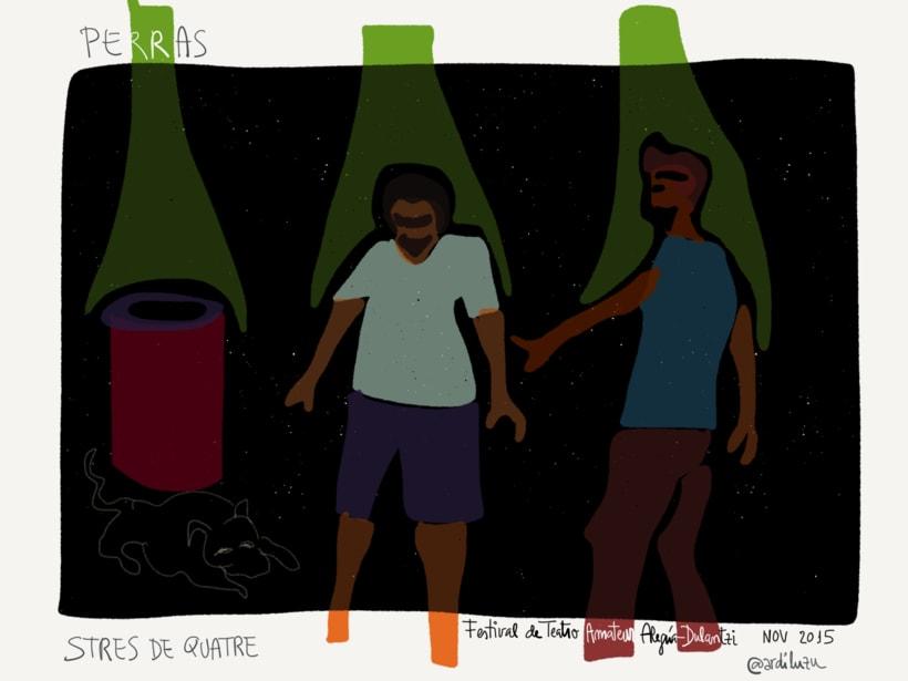 Graphic recording del Festival de Teatro Amateur de Alegría-Dulantzi 8