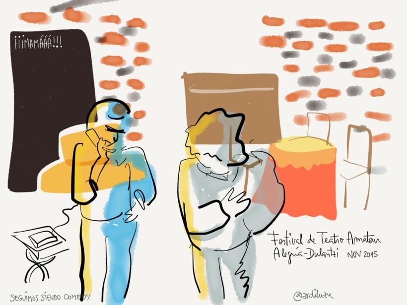 Graphic recording del Festival de Teatro Amateur de Alegría-Dulantzi 9