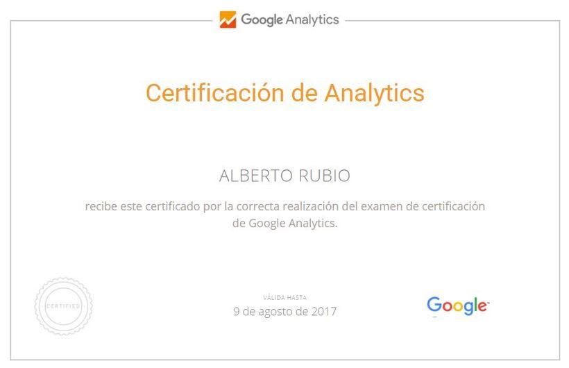 Certificado Google Analytics -1