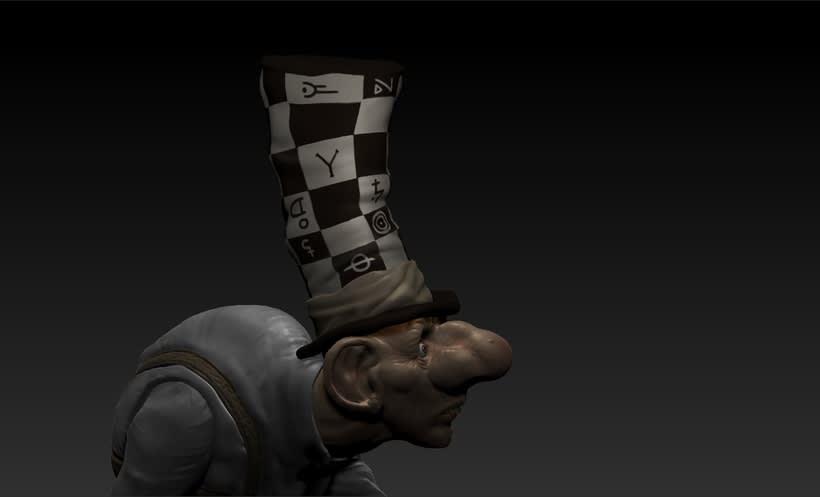 Mi Proyecto del curso: Modelado de personajes en 3D... The Madhatter 2