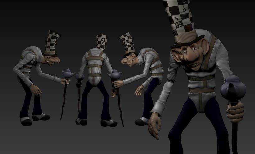 Mi Proyecto del curso: Modelado de personajes en 3D... The Madhatter 0