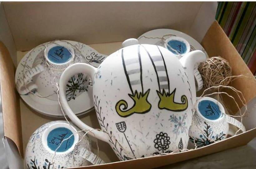 Pintura de mugs, loza, cristalería en general  -1