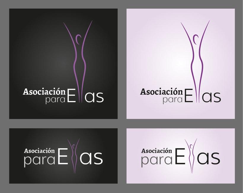 Asociación Para Ellas, logotipo para una asociación dedicada a la integración de la mujer en el mundo laboral, se representa el crecimiento y el éxito  -1